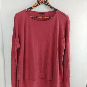 Eileen Fisher Red Silk Jersey Tunic Size Small